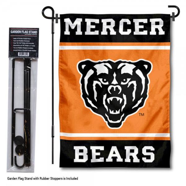 Mercer University Garden Flag and Yard Pole Holder Set