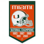 Miami Canes College Football National Champions Banner