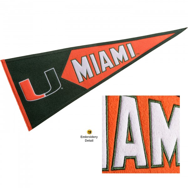 Miami Canes Embroidered Wool Pennant