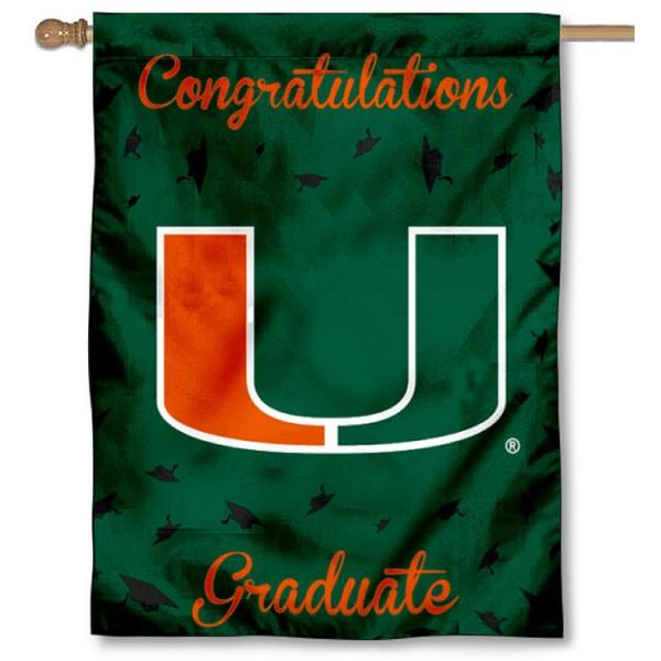 Miami Canes Graduation Banner