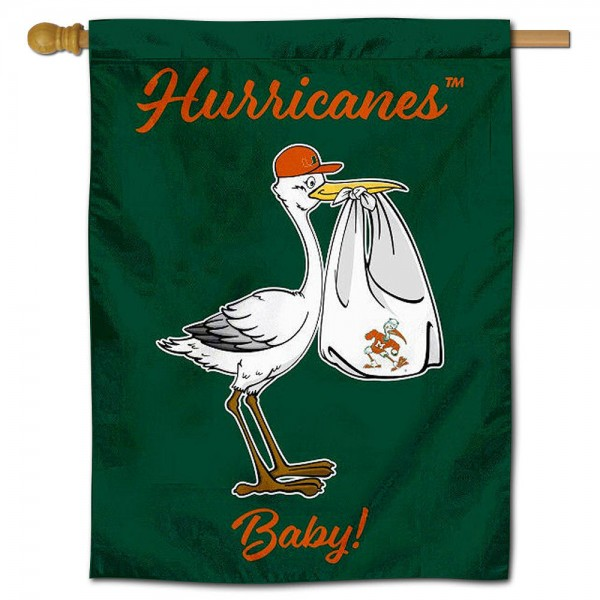 Miami Canes New Baby Banner