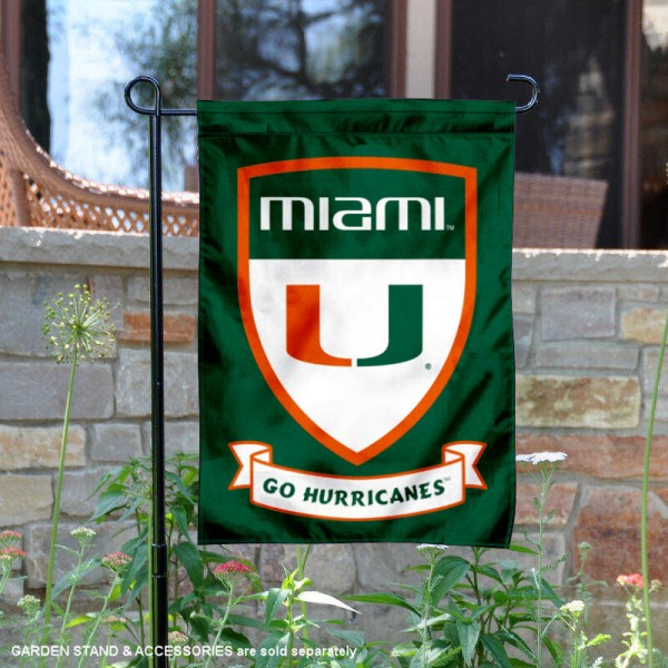 Miami Canes Shield Garden Flag