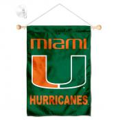 Miami Canes Small Wall and Window Banner