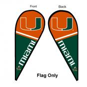 Miami Canes Teardrop Flag