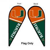 Miami Canes Teardrop Flag