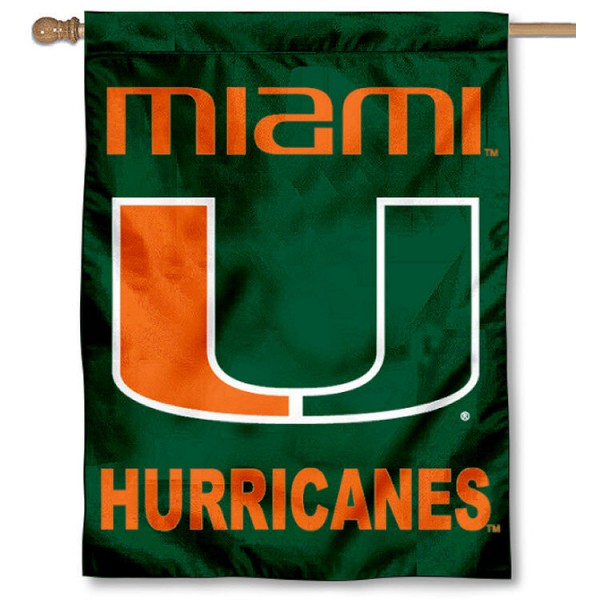 Miami Hurricane House Flag