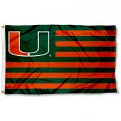 Miami Hurricane Nation Flag