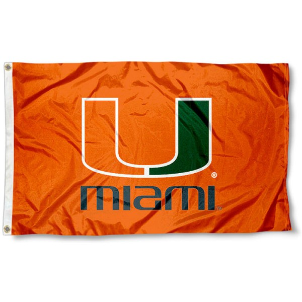 Miami Hurricane Orange Flag