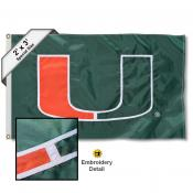Miami Hurricanes 2x3 Flag