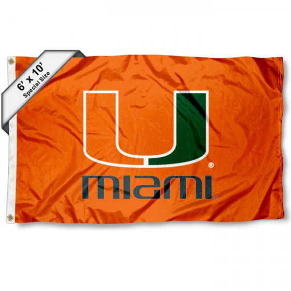Miami Hurricanes 6x10 Foot Flag