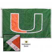 Miami Hurricanes Appliqued Nylon Flag