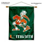 Miami Hurricanes Banner with Pole