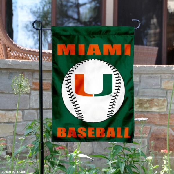 Miami Hurricanes Baseball Garden Flag