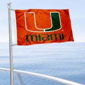 Miami Hurricanes Boat Flag