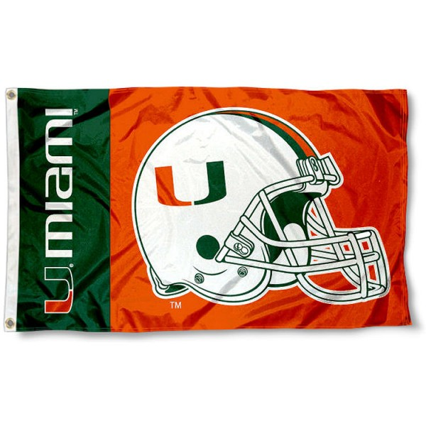 Miami Hurricanes Football Flag
