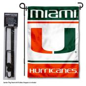 Miami Hurricanes Garden Flag and Holder