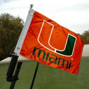 Miami Hurricanes Golf Cart Flag