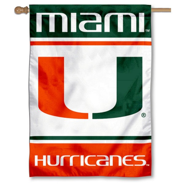 Miami Hurricanes House Flag