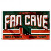 Miami Hurricanes Man Cave Dorm Room 3x5 Banner Flag