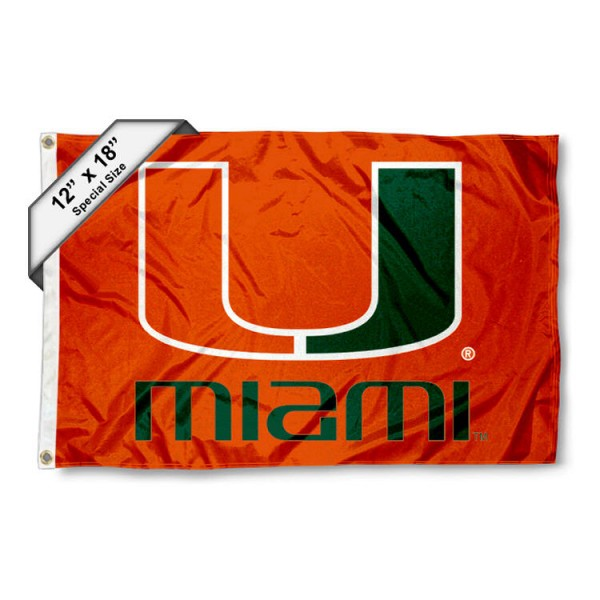 Miami Hurricanes Mini Flag