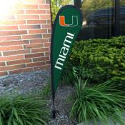 Miami Hurricanes Mini Teardrop Garden Flag