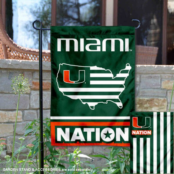Miami Hurricanes Nation Garden Flag