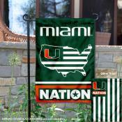 Miami Hurricanes Nation Garden Flag