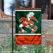 Miami Hurricanes Retro Throwback Garden Banner