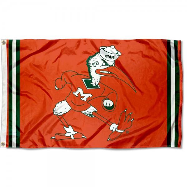 Miami Hurricanes Retro Vintage 3x5 Feet Banner Flag