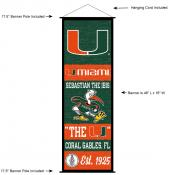 Miami Hurricanes Wall Banner and Door Scroll