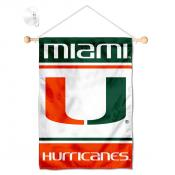 Miami Hurricanes Window Hanging Banner with Suction Cup
