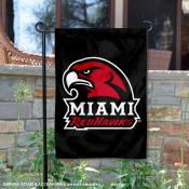 Miami Redhawks Double Sided Garden Flag