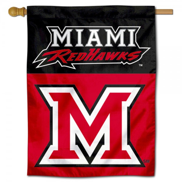 Miami Redhawks House Flag