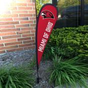 Miami Redhawks Mini Teardrop Garden Flag