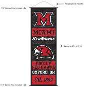 Miami Redhawks Wall Banner and Door Scroll