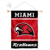Miami Redhawks Window Hanging Banner with Suction Cup