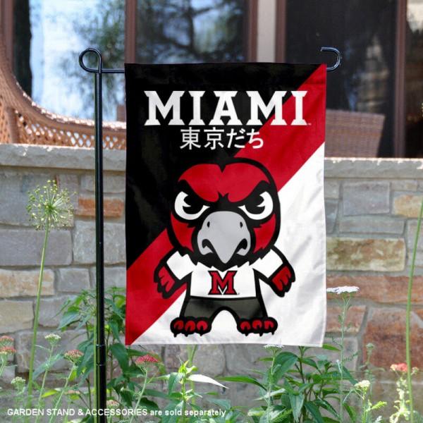 Miami Redhawks Yuru Chara Tokyo Dachi Garden Flag