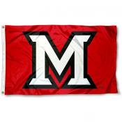 Miami University Beveled M Flag