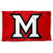 Miami University Beveled M Flag