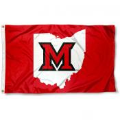 Miami University Beveled M State Flag