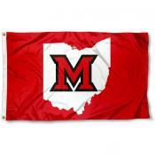 Miami University Beveled M State Flag