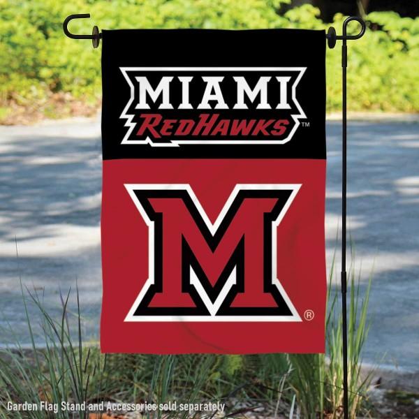Miami University Redhawks Double Sided Garden Flag