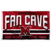 Miami University Redhawks Man Cave Dorm Room 3x5 Banner Flag