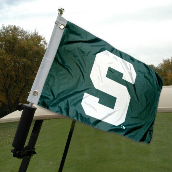 Michigan State Golf Cart Flag