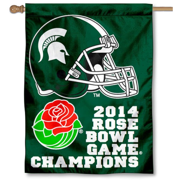 Michigan State Rose Bowl Champs Banner Flag