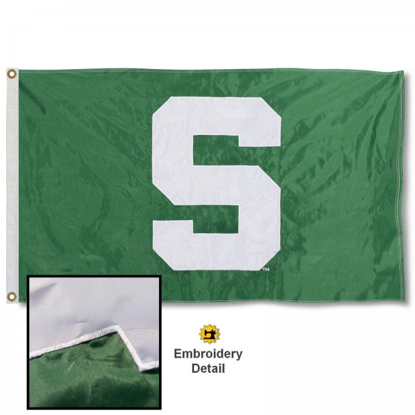 Michigan State Spartans Appliqued Nylon Flag