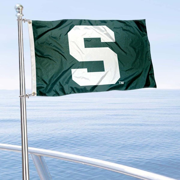 Michigan State Spartans Boat Flag