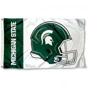 Michigan State Spartans Helmet Flag