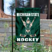 Michigan State Spartans Hockey Garden Flag