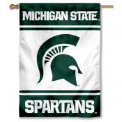 Michigan State Spartans House Flag